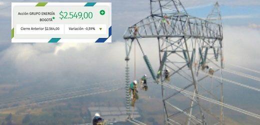 Acción del Grupo Energía Bogotá abrirá este miércoles en $2.860, máximo histórico